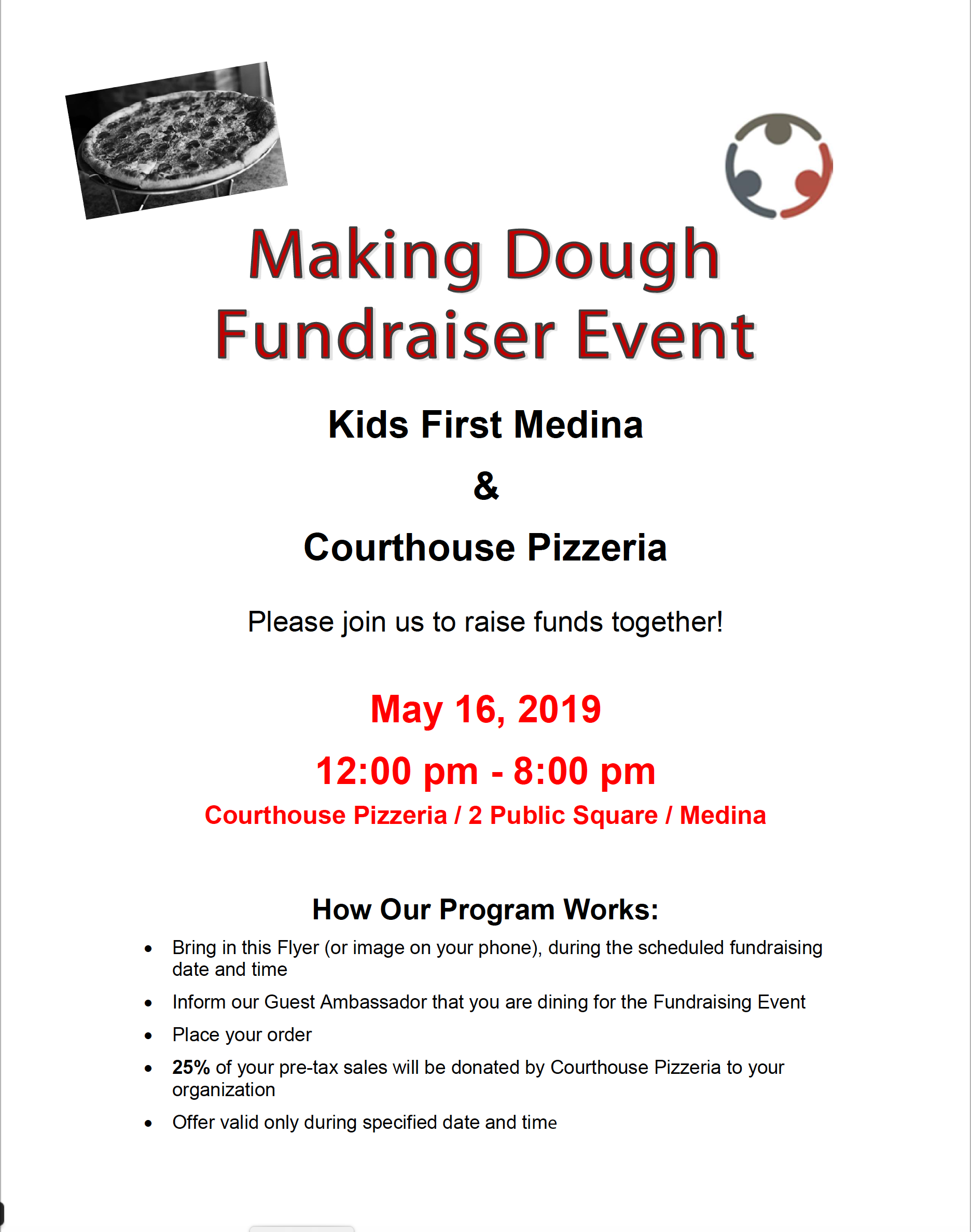 Courthouse Pizza – Dine to Donate : Kids First Medina